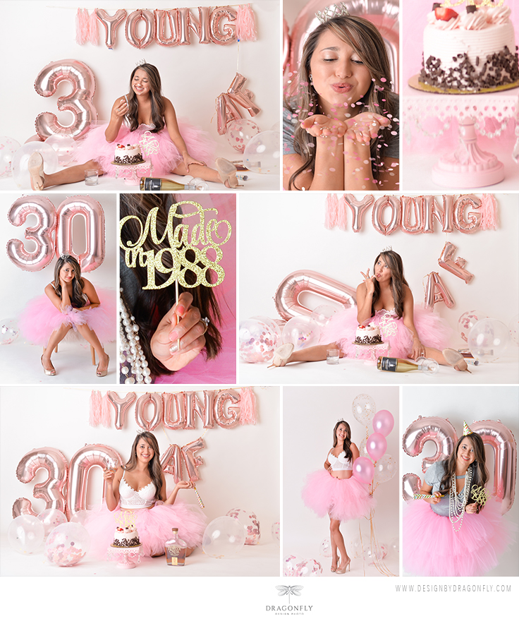 Adult cake smash photo ideas